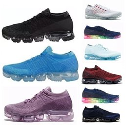 Wholesale tassel for shoe laces - New Vapormax Mens 2018 Running Shoes For Men Sneakers Women Fashion Athletic Sport Shoe Corss Hiking Jogging Walking Outdoor Running Shoe