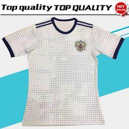 Wholesale Thai Quality - 2018 World Cup Russia Soccer Jerseys 2018 World Cup Russian Away White Football Uniform Thai Quality #10 DZAGOEV #11 SMOLOV Soccer Shirts