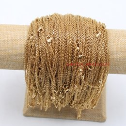 """Wholesale Thin Stainless Steel Necklace Chain - whole sale45cm (18"""")Gold Color Stainless Steel Chain Necklace Short Chain Necklaces For Women 20pcs lot thin 2mm"""
