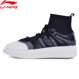 li ning sneakers Coupons - Women Sports Shoes Breathable Light Ladies Walking Fitness Sock-Like Classic Sneakers Li Ning GLKM144 L885