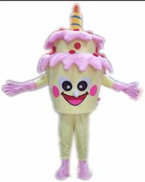 traje adulto bolo Desconto 2018 de alta qualidade adulto tamanho bolo de aniversário traje da mascote trajes do bolo fancy dress halloween