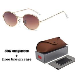 2019 celebridades gafas de sol Gafas de sol ovaladas retro hombres mujeres 2019 Diseño de marca Alloy frame uv400 lens Celebrity Eyewear Vintage Gafas de sol con estuches y estuches celebridades gafas de sol baratos