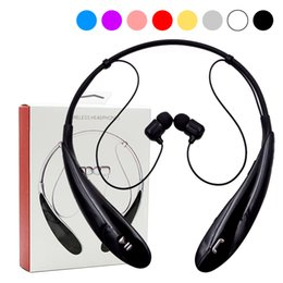Wholesale Mixed Boxing - HBS 800 Bluetooth Headset Headphone Earphone hbs 800 Stereo Wireless Neckbands for iphone 6 6s 6Plus 7 plus without logo With Retail Box