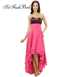 b6ee9352bd Fashion Elegant Sweetheart With Crystals Sequins A Line Hi Low Party Formal  Evening Dresses for Women Prom Dress
