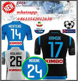 18 19 napoli soccer jersey home blue 2018 2019 Naples ZIELINSKI HAMSIK  INSIGNE MERTENS CALLEJON away third champions league football shirts 614f93bbc