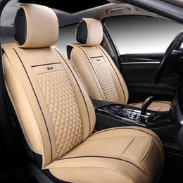 Wholesale Universal Leather Car Seat Covers - universal car seat covers For Toyota Volkswagen KIA Audi BMW Buick Ford Honda Special Leather car seat cover auto accessories free shipping