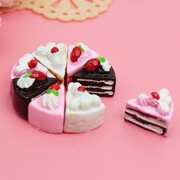 pc miniatura Sconti 10 pezzi torte giocattolo kawaii posteriore piana fai da te in miniatura artificiale finto bambola torta resina ornamento artigianato gioca casa di bambola accessori