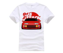 Wholesale Quality Nissan - Funny Tee Shirts Nissan Fairlady 300ZX - 90s Car Attack Teenage O-Neck Short T-Shirt High Quality women Grey women Shirt