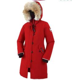 Wholesale Padded Hat - new 2018 hot sale Women KENSINGTON PARKA goose down jacket Coat Fu Winter thick cotton padded jacket cotton women jacket white collar cap