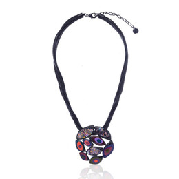 Wholesale New Trendy Clothes - whole sale2017 New Enamel Necklace Classic Clothes Accessories Wedding Jewelry Bride Geometric Trendy Women Choker Necklaces