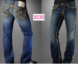Wholesale Good Trousers - wholesale Good quality NEW hot Men's Robin Rock Revival Jeans Crystal Studs Denim Pants Designer Trousers Men's size 30 32 34 36 38 40