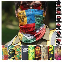 Wholesale Skull Hair Tie - Bandanas Multifunctional Outdoor Cycling Scarf Magic Turban Sunscreen Hair band DHL Fast Shipping BD00#1