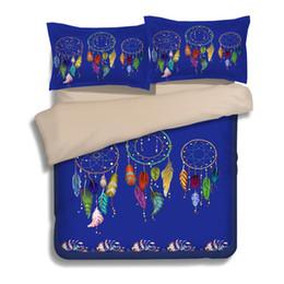 Wholesale king size luxury comforter sets - 3D Duvet Cover Dreamcatcher Art Luxury Bedding Sets Twin Full Queen King 3PCS Size Pillow Case Quilt Cover No Filler Bed Set