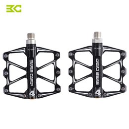 Wholesale Mtb Bicycle Pedals - BASECAMP Bicycle Pedals Mountain Road Bike Pedal MTB Cycling Alloy Aluminum 4 Bearing Pedal High Quality Bike Parts +B
