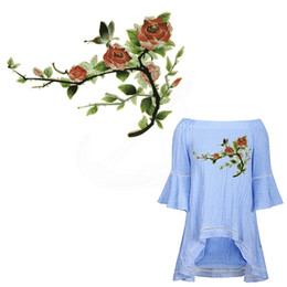 Wholesale Diy Clothes Dress Flowers - New flash Gold powder butterfly Flowers Clothing stickers 27*19cm DIY iron on patches Sweater T-shirt dress decoration