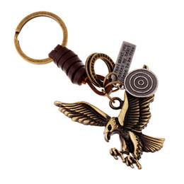 Wholesale Old Bronzes - Creative key button, male and female small gift alloy antique bronze old Hawk