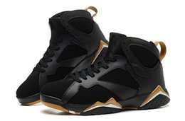golden bowl Promo Codes - Classical 7 GS Golden Moments Mens Basketball Shoes 7s Black Metallic Gold-White Sports Shoes hot sale Sneakers 304775-030