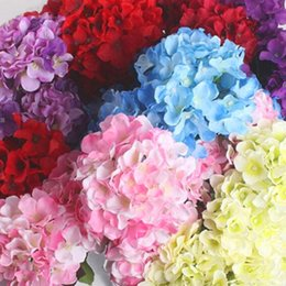 Wholesale Cheap Artificial Flower Decorations - Flower Cheap Artificial Hydrangea Flower Ball DIY Silk Hydrangea Accessory for Home Wedding Decoration Fake Flores