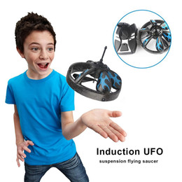 Wholesale Inflatable Trampolines For Kids - Hand Flying UFO Ball LED Mini Drone RC Quadcopte Flying Saucer Induction Suspension Aircraft Helicopter Toys Toy For Kids