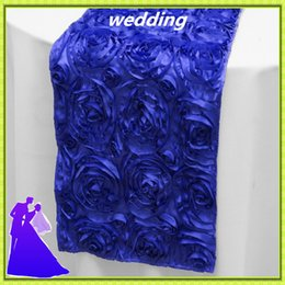 Wholesale Wedding Tables China - 30* 275cm 20pcs wedding rosette satin table runner from China free shipping
