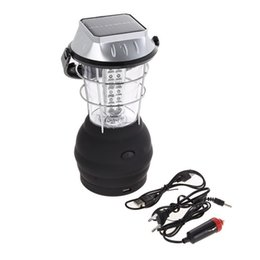 super bright solar camping lanterns Coupons - Led lantern Hand Crank 3 Modes Solar 36 LED Super Bright Lantern Outdoor Light Sport Camping Hiking EA14