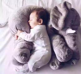 2019 niedliche gefüllte affen großhandel Cartoon 60 cm große Plüsch Elefant Spielzeug Kinder schlafen zurück Kissen gefüllt Kissen Elefant Puppe Baby Puppe Geburtstagsgeschenk für Kinder