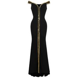 Sexy petite en Ligne-Ange-Mode Femme Epaule V Cou Etage Longueur Noir Robe De Soirée Robe De Soirée Robe De Soirée 398