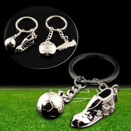 Wholesale Men Shoes Plate - Unisex Fashion World Cup Creative Football Soccer Sports Shoes Key Chain Ring, Trendy Metal Soccer Pendant Lady Keychain Men Gift 8 Style