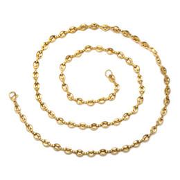 schmuck endet Rabatt Kaffeebohne Halskette Einfachen Stil Edelstahl Männer Kette Halskette Drei Farben Optional Kette Lange 60 cm