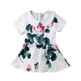 27e18122c49 preppy flower girl dresses Rabatt Sommer Neugeborene Kinder Baby Mädchen  Kurzarm Blume Prinzessin Party Pageant Kleider