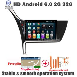 Wholesale Dvd Corolla Touch Screen - QZ industrial HD 1024*600 10.2inch Android 6.0 for Toyota corolla 2017 Car DVD player with 3G 4G WIFI Radio Navi GPS Glonass SWC BT free Map