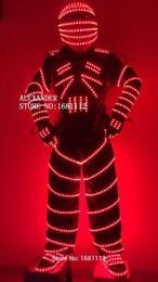 2019 ha condotto i vestiti del robot Costume luminoso / costume robot led / costume LED / abbigliamento LED / abiti leggeri / vestiti robot LED / ha condotto i vestiti del robot economici