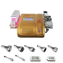 Wholesale lipo wholesale - 2018 Newest!!! Ultrasound Cavitation Vacuum RF Body Slimming Lipo Laser Fat Loss Machine