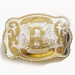 2019 fibbie rodeo Jeansfriend New Big Size Lettera iniziale Western Cowboy Cowgirl Rodeo Fibbia per cintura sconti fibbie rodeo