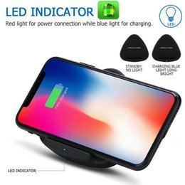 Wholesale Custom Cellphone - Wireless Charger Q10 For Samsung S6 S7 S8 iPhone 8 X Fast Foldable Stand Holder Triangle Charging cellphone with QI with Retail Package
