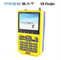 Wholesale Dvb Meter - [Genuine] Freesat V8 Finder V-71 HD DVB-S2 High Definition Satellite Finder MPEG-4 DVB S2 Satellite Meter Satfinder Full 1080P