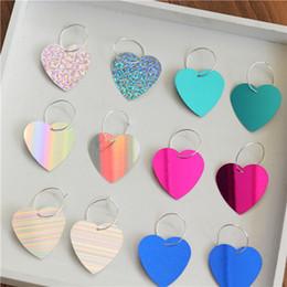 Wholesale Girls Plastic Earrings - Heart Flash Earrings Ear Clip 2018 New Girl Japanese And Korean Style Harajuku Love Retro Temperament Heart Earrings Free Shipping