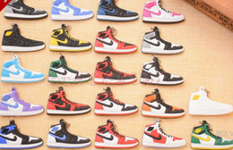 Wholesale wholesale keychains shoes - Fashion Sports Shoes Keychain Cute basketball Key Chain Car keys Bag pendant Gift many colors can choose