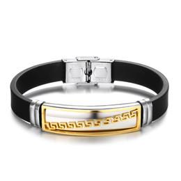 Золотой бр онлайн-MOODHOD мода из нержавеющей стали мужчины женщины браслет золото / серебро / черный цвет ювелирные изделия мужчины браслет из нержавеющей стали BR-32