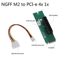 Wholesale Pci Adapters - NGFF M2 to PCI-e 4x 1x Slot Riser Card M key M.2 SSD Port to PCI Express Adapter Convertor for Mining Bitcoin Miner for BTC LTC 10pcs lot