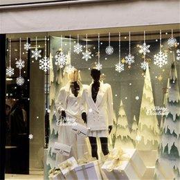 2019 виниловый виниловый винил Xmas Рождество украшения снега хлопья окна наклейки зима Снежинка стены наклейки рождественские окна наклейки
