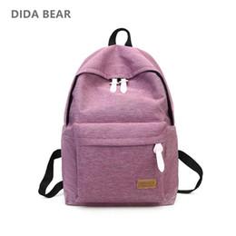 1bab649b4e7c DIDA BEAR 2018 Women Canvas Backpacks Ladies Shoulder School Bag Rucksack  For Girls Travel Fashion Bag Bolsas Mochilas Sac A Dos