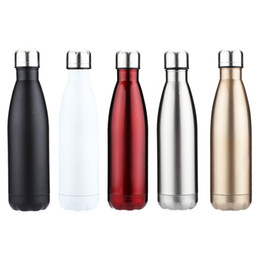 Wholesale Cycle Briefs - 500ml Outdoor Water Bottle Cycling Camping Bicycle Sports Thermal Insulation Stainless Steel Bottle For Water Cola Style