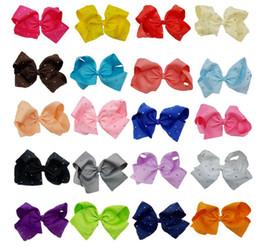 2019 acessórios menina doces Arcos de cabelo HairClips Fita Doce Cor Hairgrips Rhinestone Hairbows Pano de Cabelo Clipe Para Meninas Acessórios Para o Cabelo DHL Frete Grátis desconto acessórios menina doces
