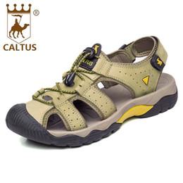 4ea06674457f6a Caltus Men Sandals 2017 Soft Footwear Classic Men Flats Genuine Leather All  Match Casual Shoes AA50127