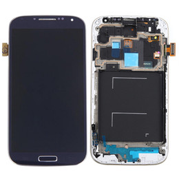Wholesale Galaxy S4 Digitizer Assembly - LCD For Samsung Galaxy S4 Screen Digitizer with frame Assembly Mobile Phone Display S4 I9500 I9505 LCD Touch Screen Assembly