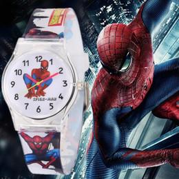 Wholesale Cool Shocks - New Waterproof Cool Spiderman Children Watch Cartoon Quartz Watches for Student Boy Kids Child Gift Wristwatch Relogio