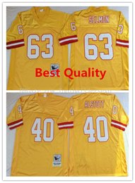 Wholesale Cheap American Football Shirts - NCAA Throwback Alstott Jerseys American football college shirts mens retro lee roy Selmon Mike orange color Cheap sale size Free Shipping