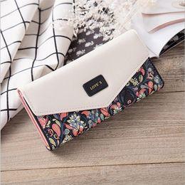 Wholesale large wallet organizer - Fashion Printing Women Wallets Leather long pattern Women Purse High Quality Wallet Female Clutch Large Capacity handbag
