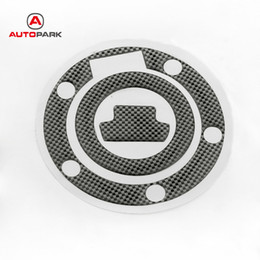 Wholesale gas cover stickers - Professional New Carbon-Look Fuel   Gas Cap Cover Pad Sticker For Yamaha YZF R1 R6 Motorcycle Decoration Sticker